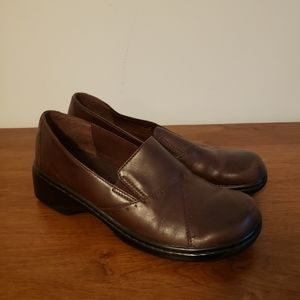 Clark's brand brown loafers